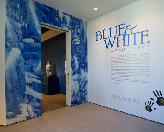 Blue and White Exhibit